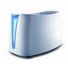 Humidificateur par évaporation à vapeur froide QuietCare de Honeywell - Humidité invisible filtrée pour soulager l'inconfort causé par l'air sec, optimisé pour un débit élevé avec un minimum de bruit.