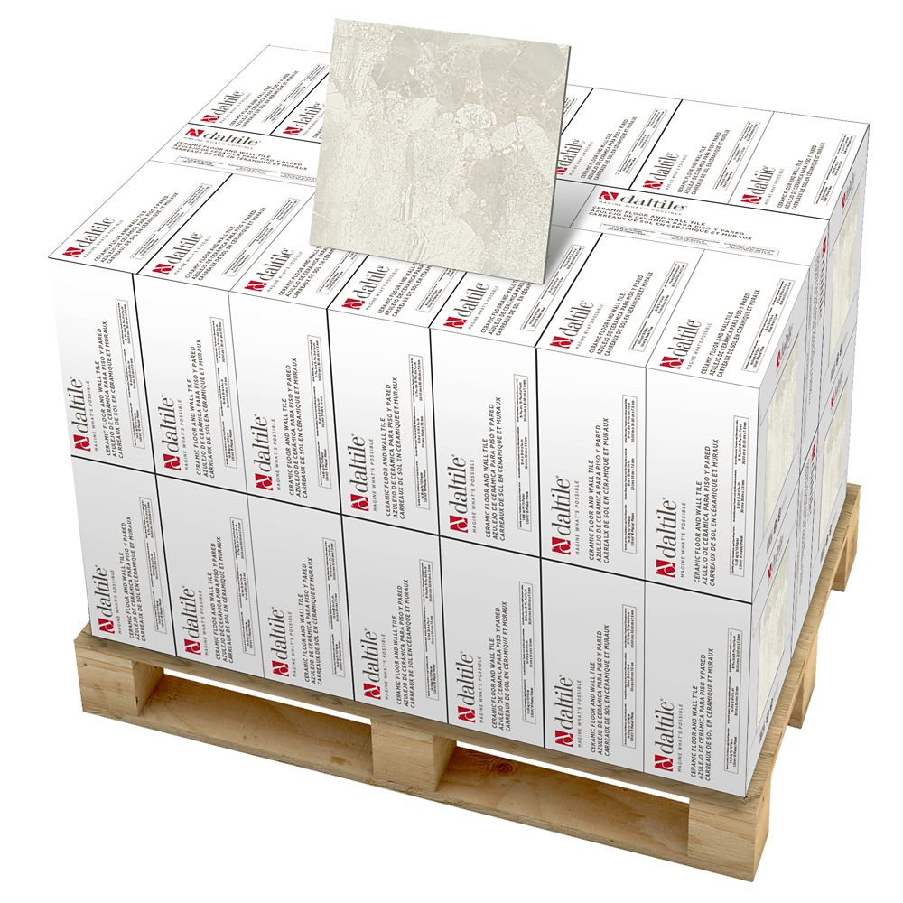 Marble Falls 12-inch x 12-inch Ceramic Floor and Wall Tile in White Water (594 sq. ft./pallet)