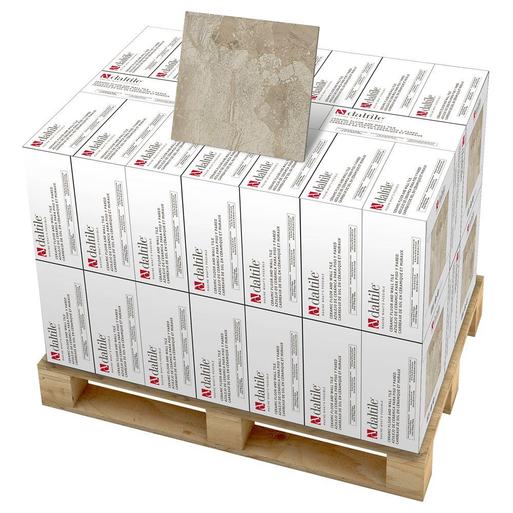 Carreau de sol et de mur 30,5cmx 30,5cm (12pox 12po), céramique beige Highland MarbleFalls