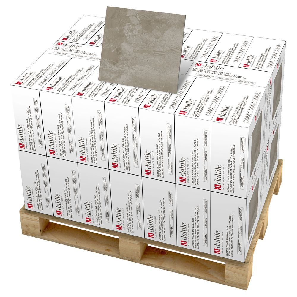 Marble Falls Gray Pearl 12 Inch x 12 Inch Ceramic Floor and Wall Tile (594 Sq.  Feet  / Pallet)