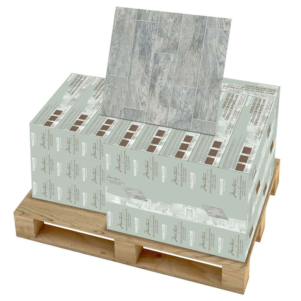 Montagna Dapple Gray 6 Inch x 24 Inch Porcelain Floor and Wall Tile (392.31 Sq.  Feet  / Pallet)