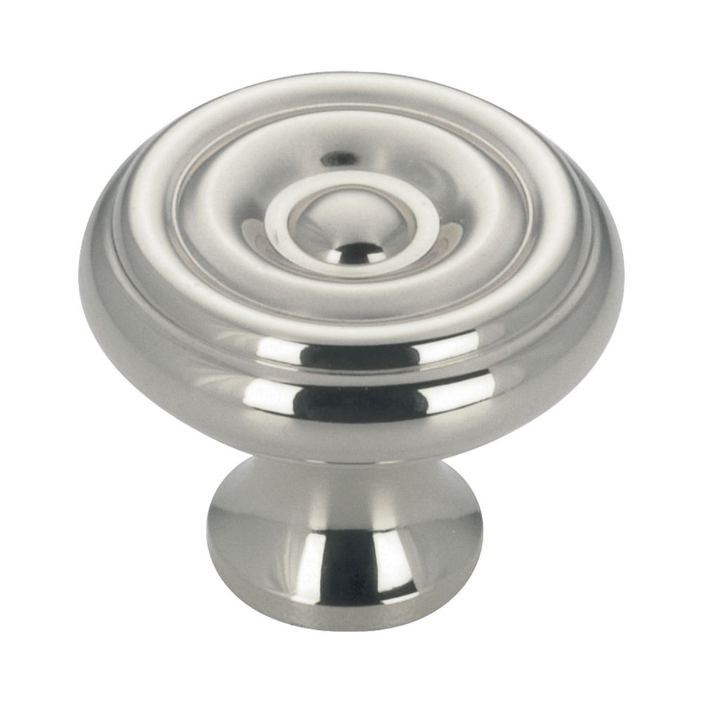 Richelieu Traditional Brass Knob 1 1/4 in (32 mm) Dia - Chrome - Laval Collection
