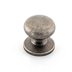 Richelieu Traditional Brass Knob 1 1/4 in (32 mm) Dia - Pewter - Prairie Collection