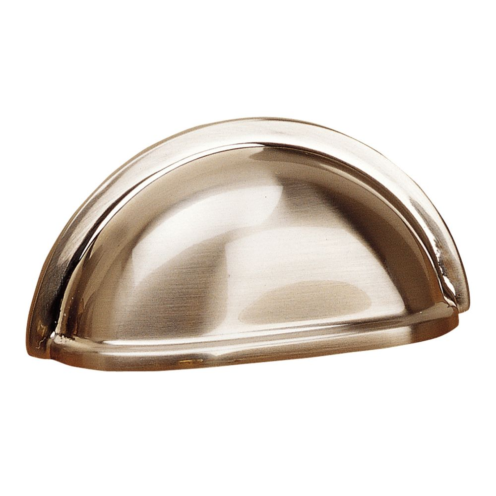 Richelieu Traditional Brass Cup Pull 3 in (76.2 mm) CtoC - Brushed Nickel  - Kirkland Collection