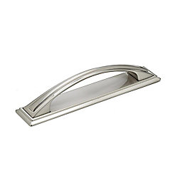 Richelieu Transitional Metal Pull 5 1/32 in (128 mm) CtoC - Brushed Nickel  - Vaudreuil Collection