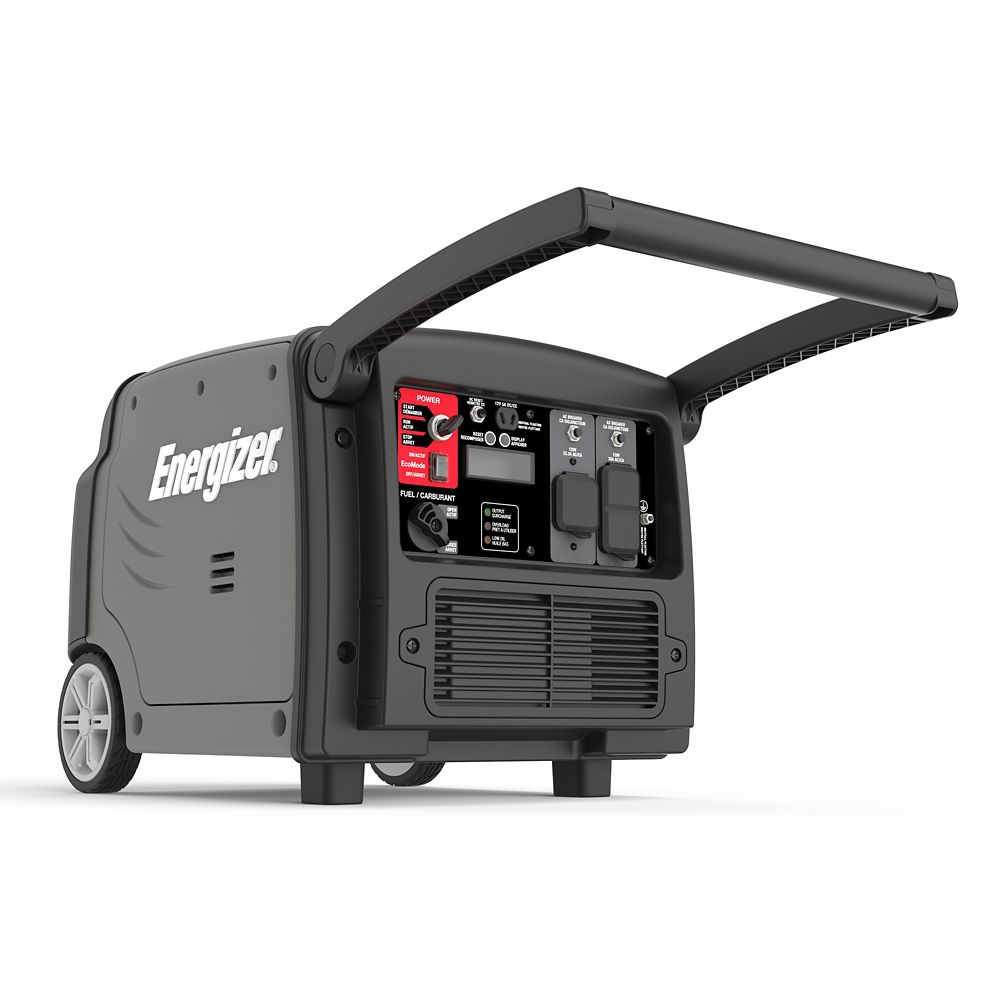 Energizer eZV3200: 3,200 Watt Portable Gas Powered Inverter Generator with Electric and Remote St...