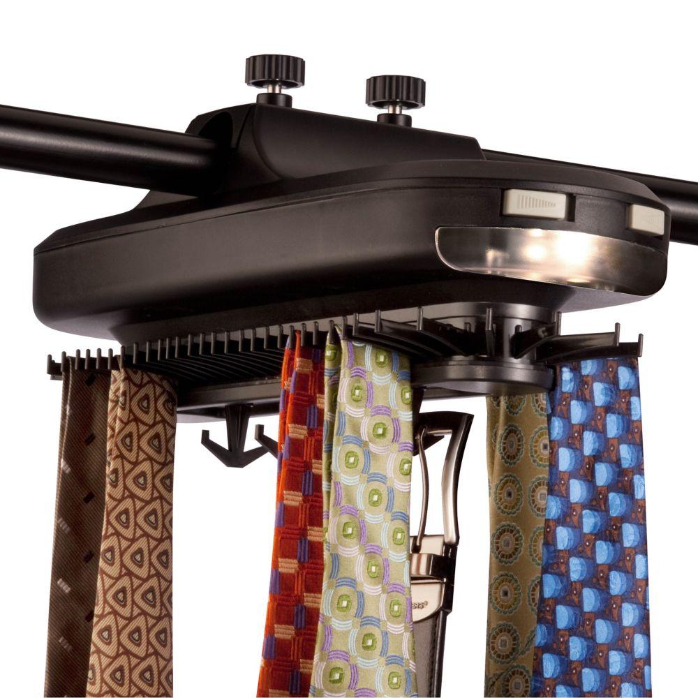 Honey-Can-Do International Battery Powered Tie and Belt Organizer