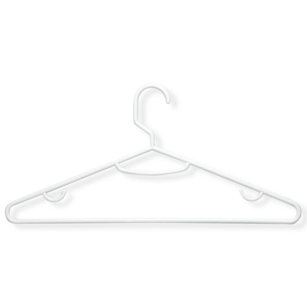 Honey-Can-Do International Brilliant White Plastic Hangers (60-Pack)