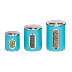 3 Pack Metal Storage Canisters