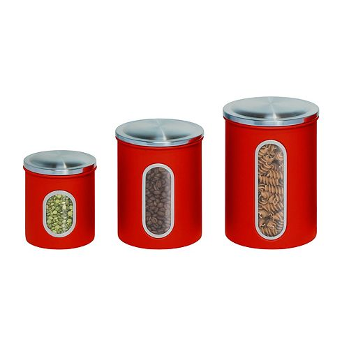 Honey-Can-Do Metal Storage Canisters (3-Pack)