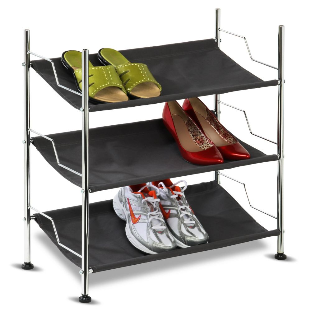 3-Tier Canvas Shoe Rack