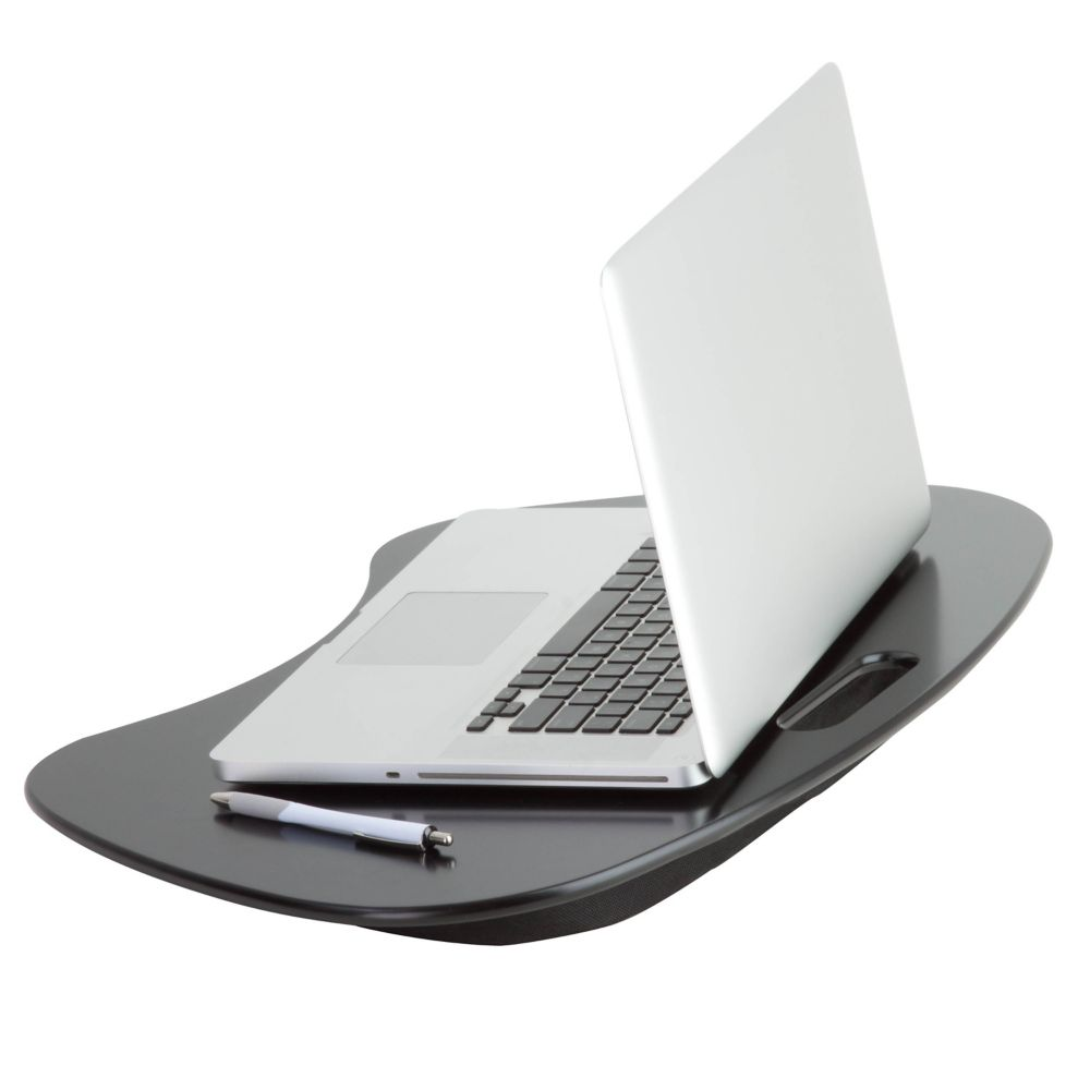 Honey-Can-Do International Portable Laptop Desk with Built-in Handle, Black