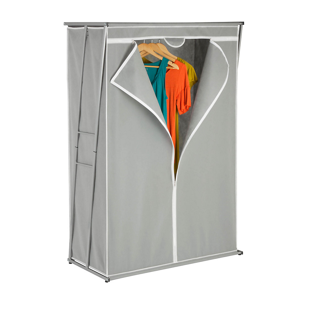 46-inch L x 19.625-inch W x 61.5-inch H, 46' Z-Frame Wardrobe