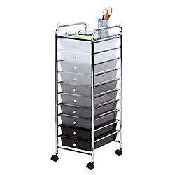 Honey-Can-Do International 10 Drawer Shaded Storage Cart