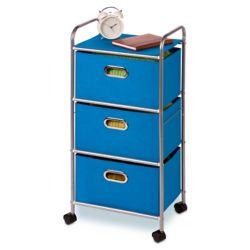Honey-Can-Do International 3 drawer rolling cart blue