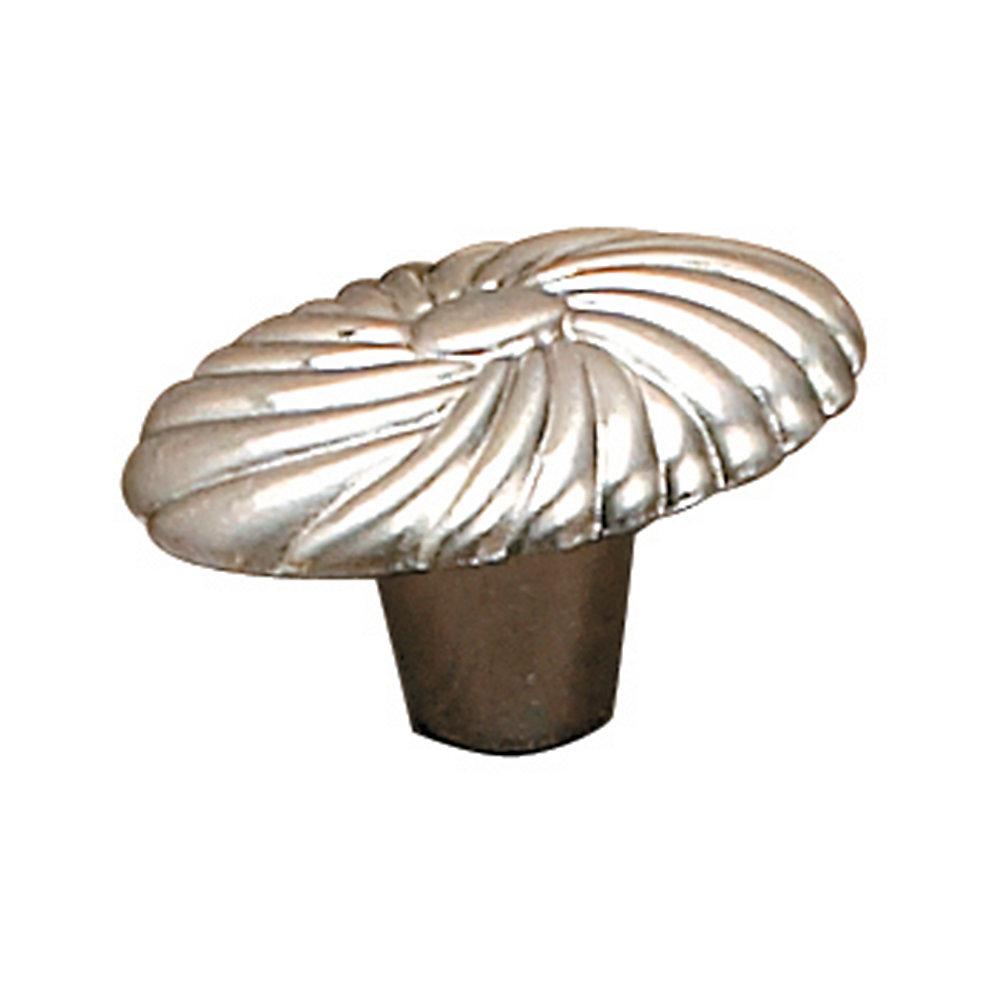 Traditional Metal Knob - Brushed Nickel