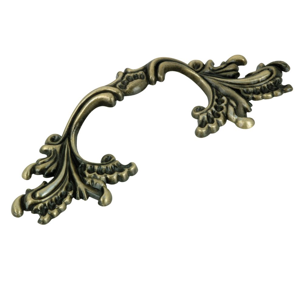 Richelieu Traditional Metal Pull 3 in (76.2 mm) CtoC - Antique English  - Provence Collection
