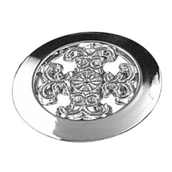Richelieu Traditional Metal Knob 1 1/2 in (38 mm) Dia - Chrome - Marseille Collection