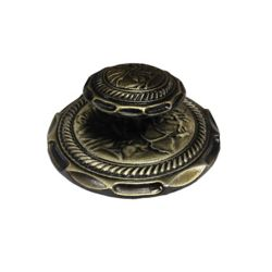 Richelieu Traditional Brass Knob 1 1/4 in (32 mm) Dia - Antique English - Provence Collection