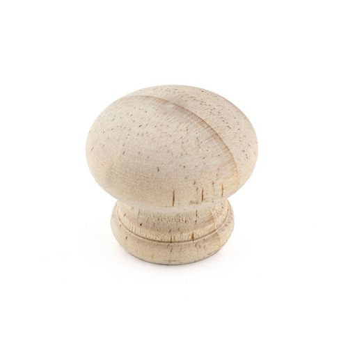 Richelieu Eclectic Wood Knob 1 3/16 in (30 mm) Dia - Pine - Bourgogne Collection