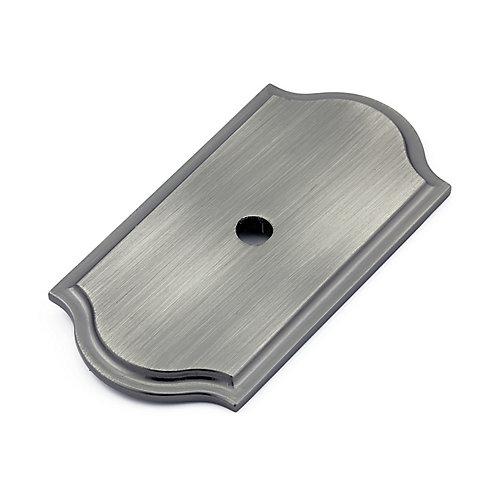 Plaque transitionnelle en métal pour bouton  Nickel antique - Tremblant Collection
