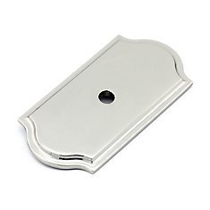Transitional Metal Back plate for Knob Polished Nickel - Tremblant Collection