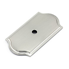 Transitional Metal Backplate for Knob  Brushed Nickel - Tremblant Collection