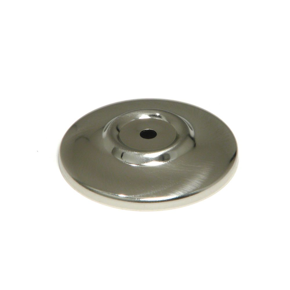 Functional Metal Backplate For Knob   Brushed Nickel   52 Mm Dia.