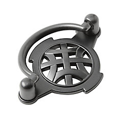 Richelieu Traditional Metal Pull 2 17/32 in (64 mm) CtoC - Anthracite  - Provence Collection