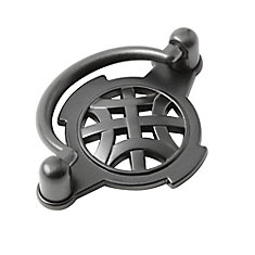 Traditional Metal Pull 2 17/32 in (64 mm) CtoC - Anthracite  - Provence Collection