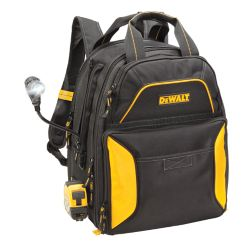 DEWALT 33 Pocket Lighted USB Charging Tool Backpack W/Light