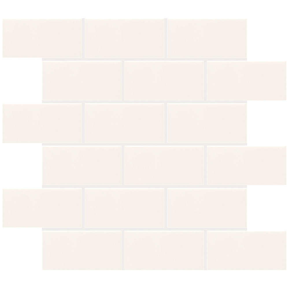 Finesse 12-inch x 12-inch x 8 mm Ceramic Mosaic Tile in White (10 sq. ft./case)