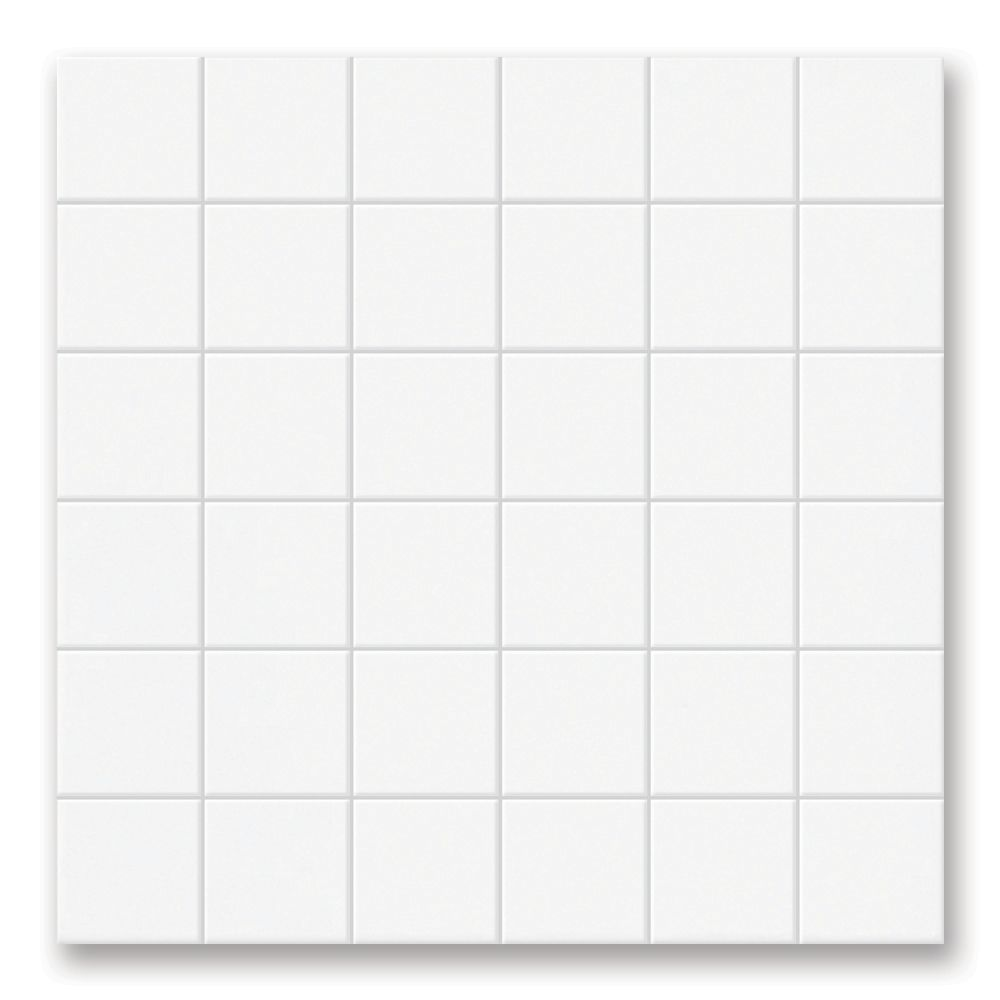 Permatones Glacier 12-inch x 12-inch x 8 mm Ceramic Mosaic Tile (10 sq. ft./case)