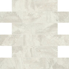 Marble Falls 12-inch x 12-inch x 6 mm Ceramic Mosaic Tile in White Water (9.96 sq. ft./case)