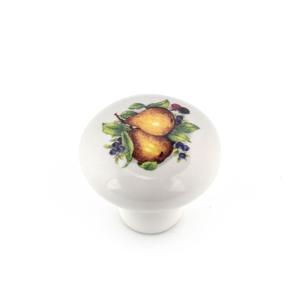 Richelieu Eclectic Ceramic Knob - Pear - 31 mm Dia.