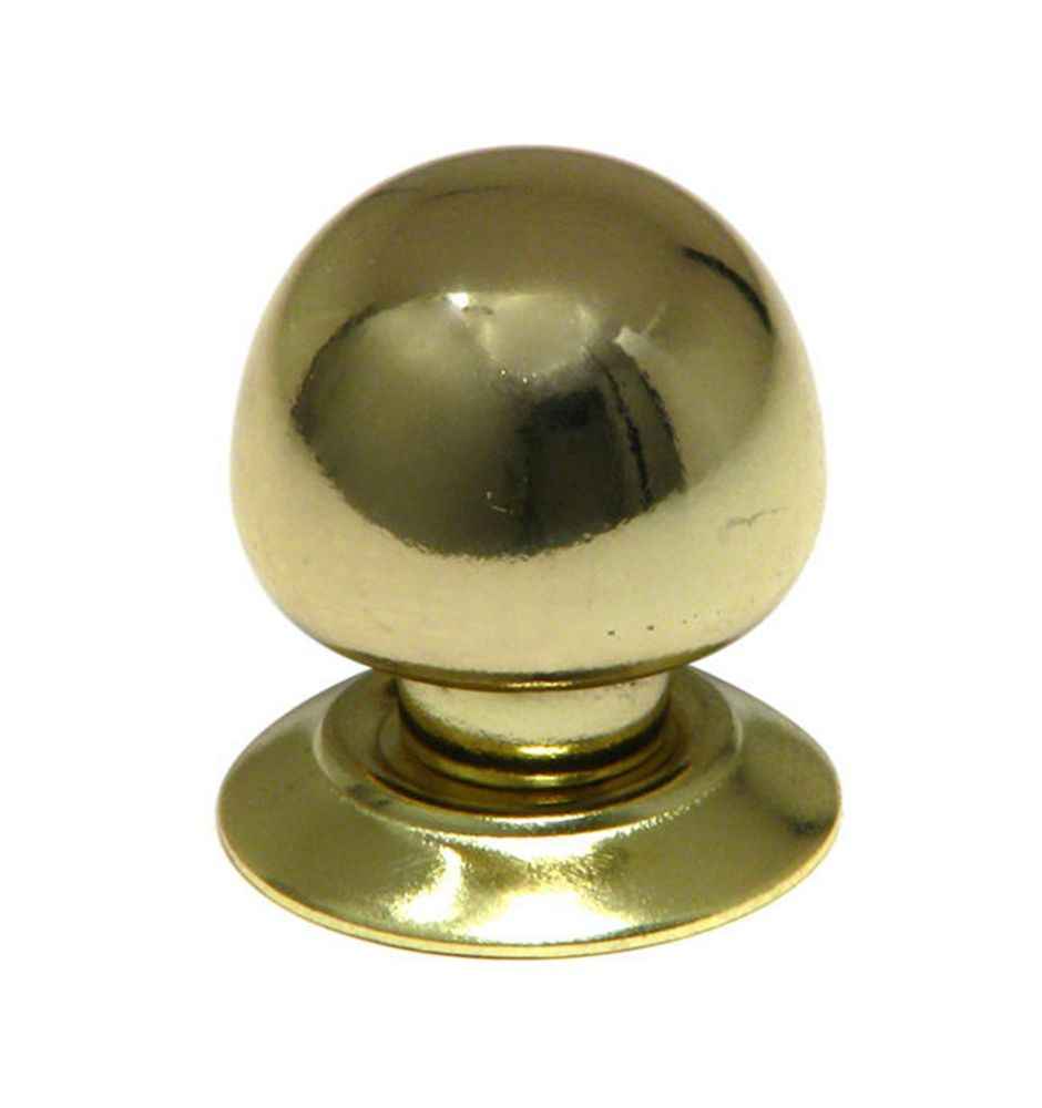 Functional Metal Knob 1 5/16 in (33 mm) Dia - Brass - Coventry Collection