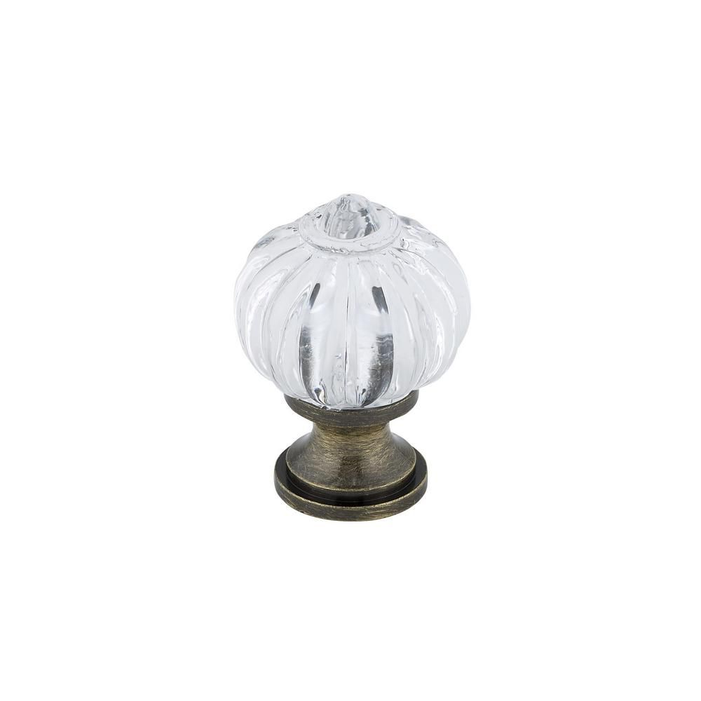 Richelieu Eclectic Acrylic and Metal Knob 1 3/32 in (28 mm) Dia - Montreuil Collection
