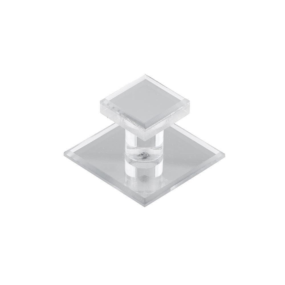 Richelieu Contemporary Acrylic Knob  Transparent/Clear Mirror Effect - Mornac Collection