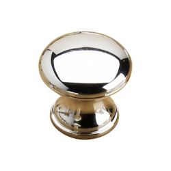 Richelieu Contemporary Plastic Knob 1 3/16 in (30 mm) Dia - Chrome - Villeray Collection