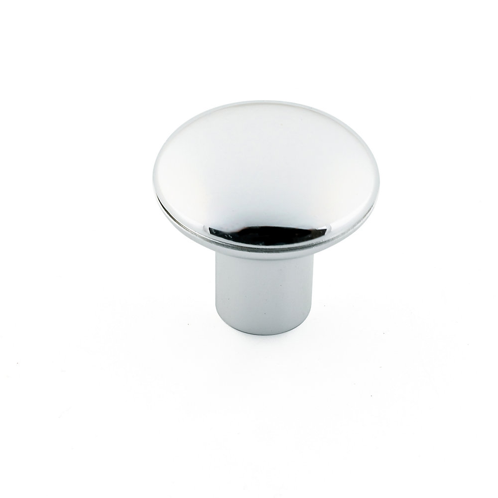 Contemporary Plastic Knob1 3/16 in (30 mm) Dia - Chrome - Villeray Collection