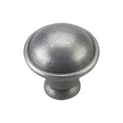Richelieu Traditional Metal Knob - Pewter - 32 mm Dia.