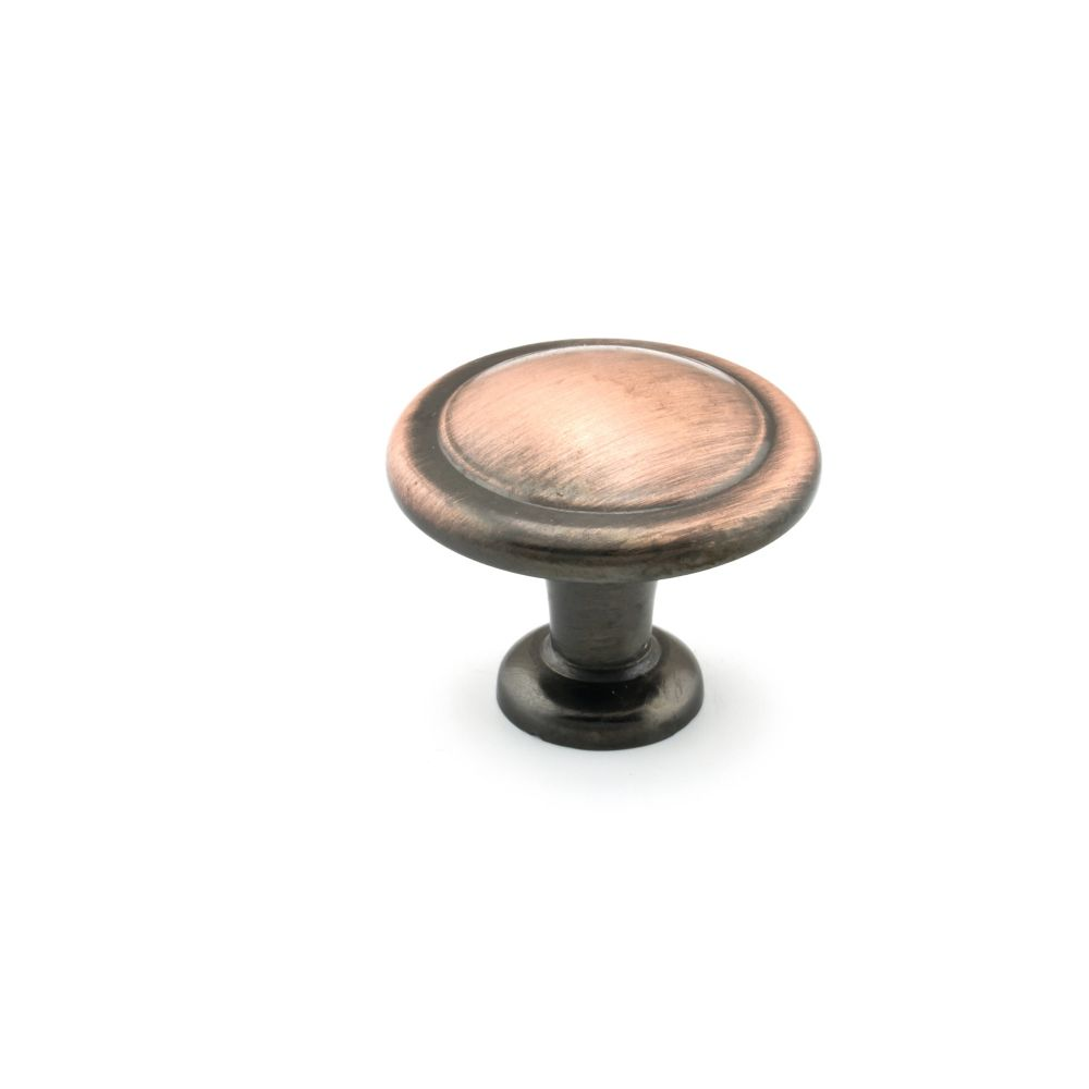Richelieu Traditional Metal Knob 1 1/4 in (32 mm) Dia - Antique Copper - Toulouse Collection