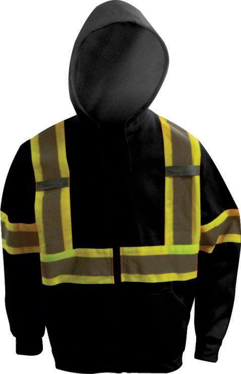 Workhorse Black Polar Fleece Sweatshirt - Size XL