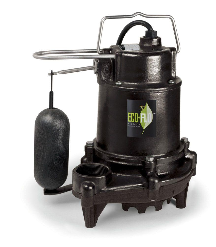 Sump Pump, Submersible, 1/3HP, CI, Pro Vert Sw