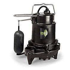 Pompe de puisard submersible, 1/3HP, fonte, interrupteur vertical de qualité supérieure