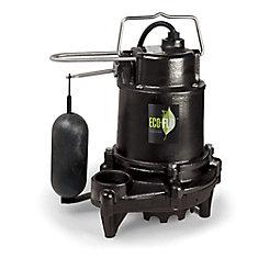 Pompe de puisard submersible, 1/2HP, fonte, interrupteur vertical de qualité supérieure