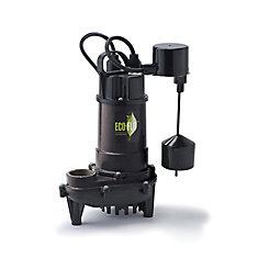 Pompe de puisard submersible, 1/2HP, fonte, interrupteur à flotteur vertical