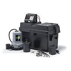 Pompe de puisard, système durgence à batterie, 115V/12V CC