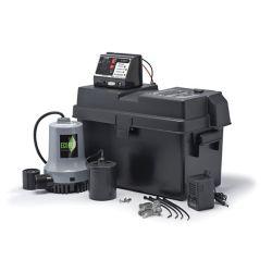 ECOFLO Sump Pump, Battery Back-Up System, 115V/12V DC