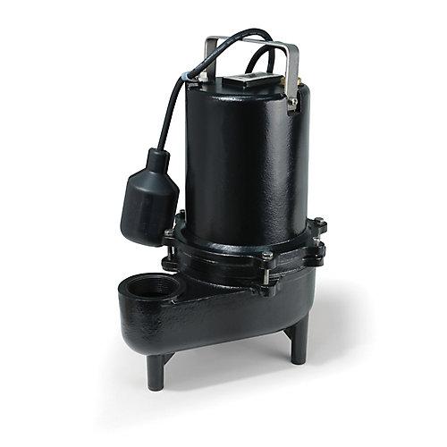 Pompe deaux dégout, 6/10HP, fonte de qualité sup., 9900gal/h, interrupteur à flotteur attaché